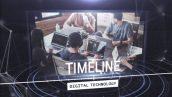 پروژه افترافکت با موزیک معرفی شرکت با تایم لاین دیجیتالی Digital Techonology Timeline