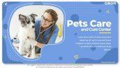 پروژه افترافکت با موزیک معرفی کلینیک دامپزشکی Pets Care and Cure Center