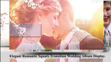 پروژه افترافکت عروسی اسلایدشو Elegant Romantic Square Transition Wedding Album Display