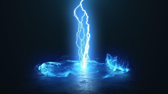 پروژه افترافکت لوگو با موزیک افکت انفجار گرداب نوری Vortex Lightning Explosion Logo
