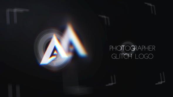 پروژه افترافکت لوگو با موزیک ویژه آتلیه عکاسی Minimal Photographer Glitch Logo