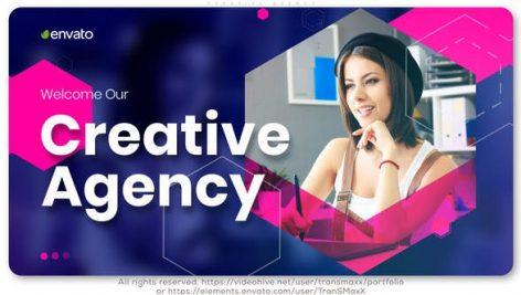 پروژه افترافکت معرفی شرکت با موزیک آژانس خلاقیت Creative Agency