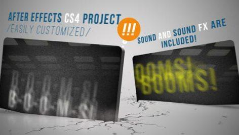 پروژه افترافکت معرفی شرکت با موزیک Booms After Effects Template