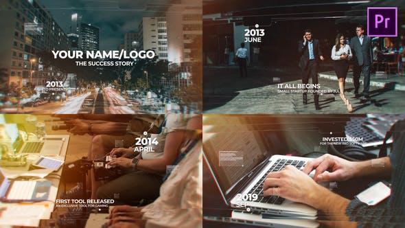 پروژه پریمیر با موزیک اسلایدشو تایم لاین Modern Timeline Slideshow MOGRT