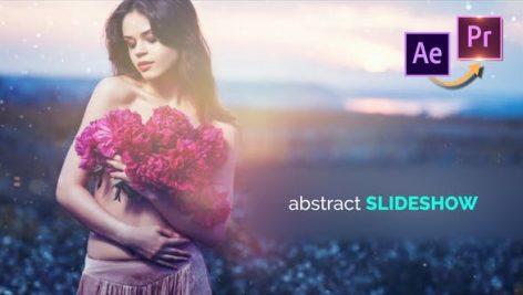 پروژه پریمیر با موزیک اسلایدشو تم انتزاعی Abstract Slideshow Premiere PRO