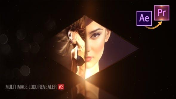 پروژه پریمیر با موزیک لوگو افکت نمایش عکس Multi Image Logo V3 Premiere PRO