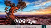 پریست لایت روم تم کنتراست نور HDR Style Lightroom Presets