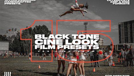 پریست لایت روم دسکتاپ و موبایل تم سینمایی تیره Black Tone Cine Look Film Presets