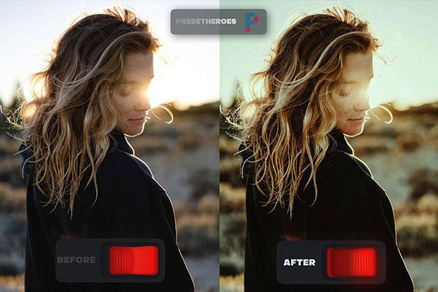پریست لایت روم دسکتاپ و موبایل تم طبیعت رنگی Nomad Lightroom Preset v2