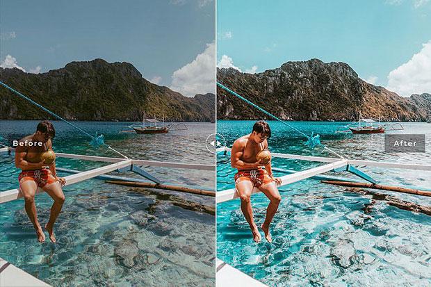 پریست لایت روم و Camera Raw و اکشن تم پالاوان Palawan Mobile And Desktop Lightroom Presets