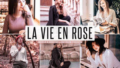 پریست لایت روم و Camera Raw و اکشن تم گل سرخ La Vie En Rose Mobile & Desktop Lightroom Presets