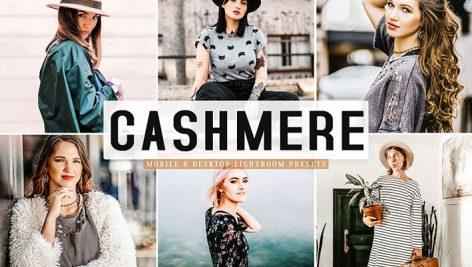پریست لایت روم و Camera Raw و اکشن سینمایی Cashmere Lightroom Presets Pack