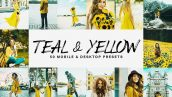 50 پریست لایت روم و لات رنگی LUTs زرد و خاکستری Teal And Yellow Lightroom Presets