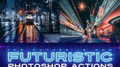دانلود اکشن فتوشاپ حرفه ای Futuristic Gen 2 Photoshop Actions