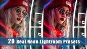 دانلود پریست لایت روم افکت رنگی لامپ نئون Real Neon Lightroom Presets