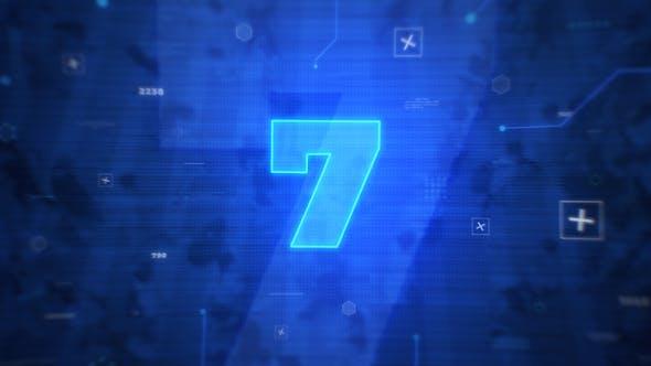 پروژه آماده افتر افکت شمارش معکوس با موزیک Digital Countdown Intro