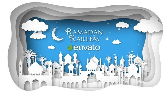 پروژه آماده افتر افکت ماه رمضان با موزیک Ramadan and Eid Mubarak Opener