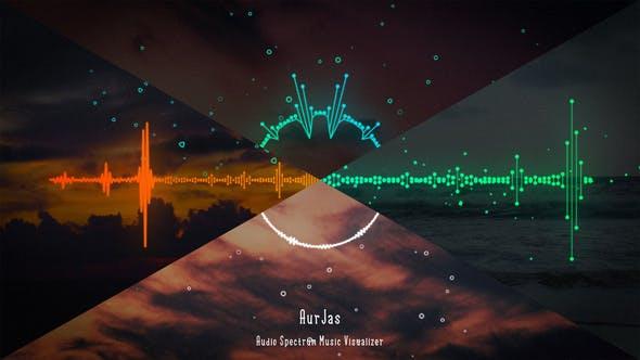 پروژه افتر افکت موزیک اکولایزر Audio Spectrum Music Visualizer