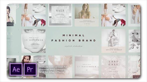 پروژه پریمیر اسلایدشو با موزیک تم فشن Fashion Brand Minimal Slideshow