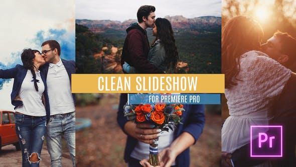 پروژه پریمیر اسلایدشو با موزیک شیک و ساده Clean Slideshow for Premiere Pro