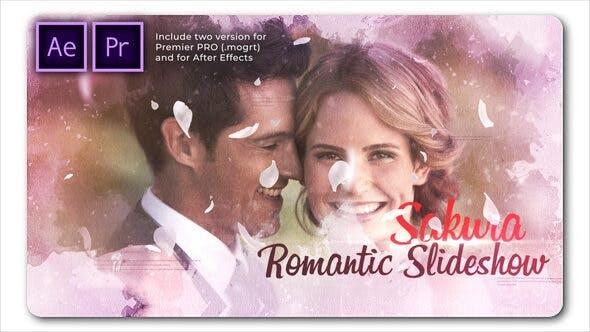 پروژه پریمیر با موزیک اسلایدشو سینماتیک عروسی Sakura Wedding Cinematic Slideshow
