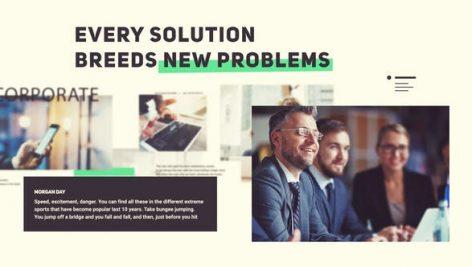 پروژه پریمیر با موزیک معرفی شرکت Modern Corporate Presentation