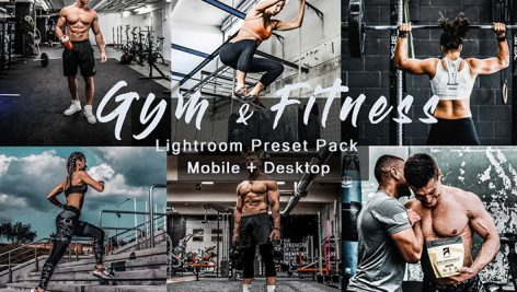 پریست لایت روم دسکتاپ و موبایل ورزشی Gym Fitness Lightroom Presets