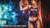 25 پریست آماده رنگی ورزشی لایتروم Sports Color HDR Lightroom Preset