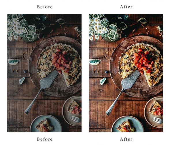 30 پریست لایت روم مواد غذایی Ultimate Food Lightroom Presets
