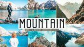 34 پریست لایت روم و پریست کمرا راو تم کوهستان Mountain Pro Lightroom Presets