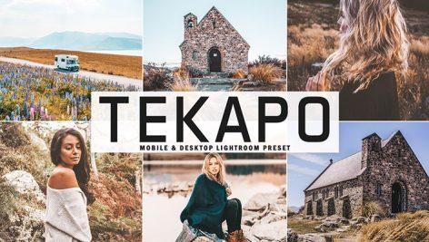 34 پریست لایت روم و Camera Raw و اکشن Tekapo Mobile And Desktop Lightroom Presets