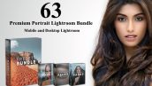 63 پریست لایت روم دسکتاپ و موبایل حرفه ای پرتره Premium Portrait Lightroom Bundle