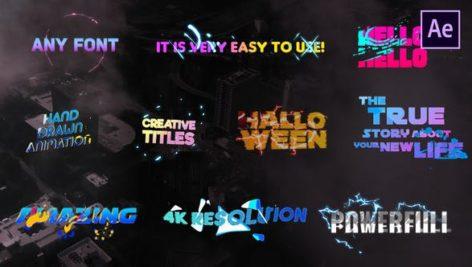 تایتل رنگی آماده افترافکت رزولوشن 4K فوق حرفه ای Creative Colorful Titles After Effects