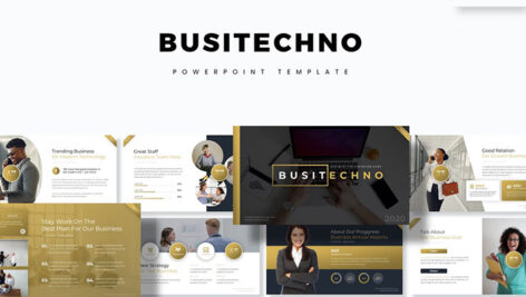 تم پاورپوینت و اسلایدر گوگل Busitechno Powerpoint Keynote and Google Slide Template
