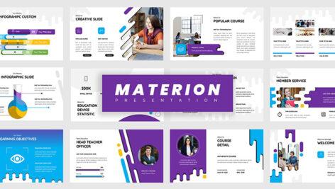 تم پاورپوینت و گوگل اسلایدر آموزشی Materion Education PowerPoint, Keynote, Google Slides Presentations