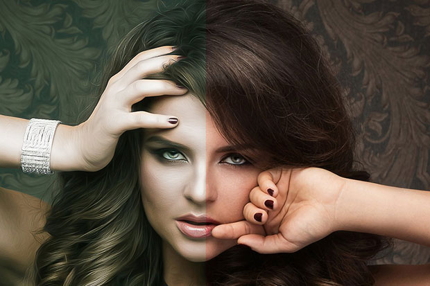 دانلود اکشن فتوشاپ تم دختر زیبا Pro Glamour Girl Effect