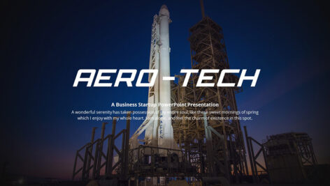 دانلود قالب پاورپوینت تم هوا و فضا Aero Tech Technology PowerPoint Template