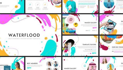 قالب پاورپوینت و گوگل اسلایدر حرفه ای Waterflood Powerpoint Keynote and Google Slides Templates