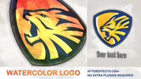 پروژه آماده افتر افکت با موزیک لوگو طرح آبرنگ Watercolor Logo