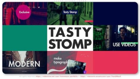 پروژه آماده افتر افکت با موزیک وله پایکوبی شاد Tasty Stomp Intro
