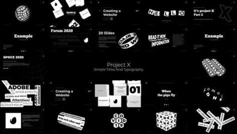 پروژه آماده تایتل و تایپوگرافی افترافکت Simple Titles And Typography