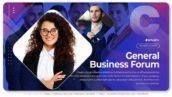 پروژه افترافکت با موزیک تیزر شرکتی General Business Forum Slideshow