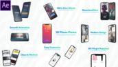 پروژه افترافکت با موزیک تیزر 3 بعدی معرفی موبایل 3D Smartphone Presentation for After Effects