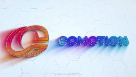 پروژه افتر افکت نمایش لوگو شیشه ای رنگی Colorful Glass Logo
