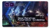 پروژه پریمیر اسلایدشو با موزیک افکت پارالاکس هشت ضلعی Hexa Parallax Futuristic Slideshow