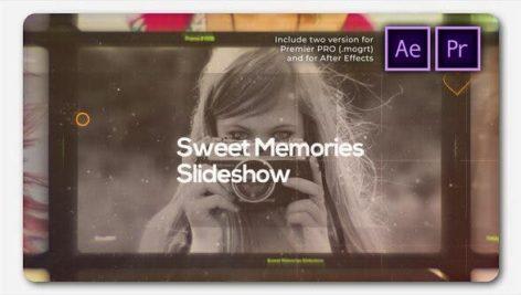 پروژه پریمیر اسلایدشو با موزیک خاطرات خوش سینمایی Sweet Memories Cinematic Slideshow