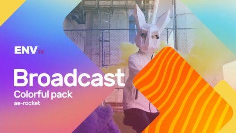 پروژه پریمیر با موزیک معرفی برنامه تلویزیون Broadcast ID Colorful Pack Mogrt