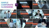 پروژه پریمیر با موزیک معرفی شرکت مدرن Simple Corporate Slideshow Premiere Pro