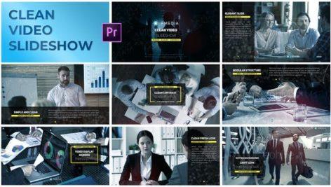 پروژه پریمیر با موزیک معرفی شرکت Clean Video Slideshow Premiere Pro