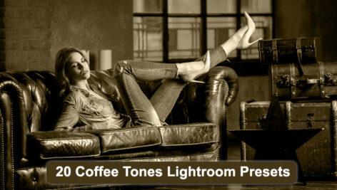 پریست لایتروم عکاسی تم رنگ قهوه Coffee Tones Lightroom Presets Graphic